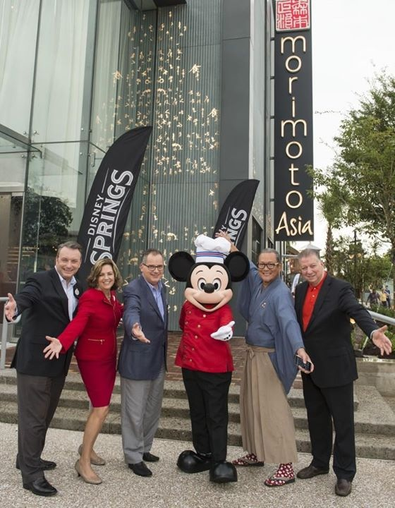 Mickey at the grand opening of M